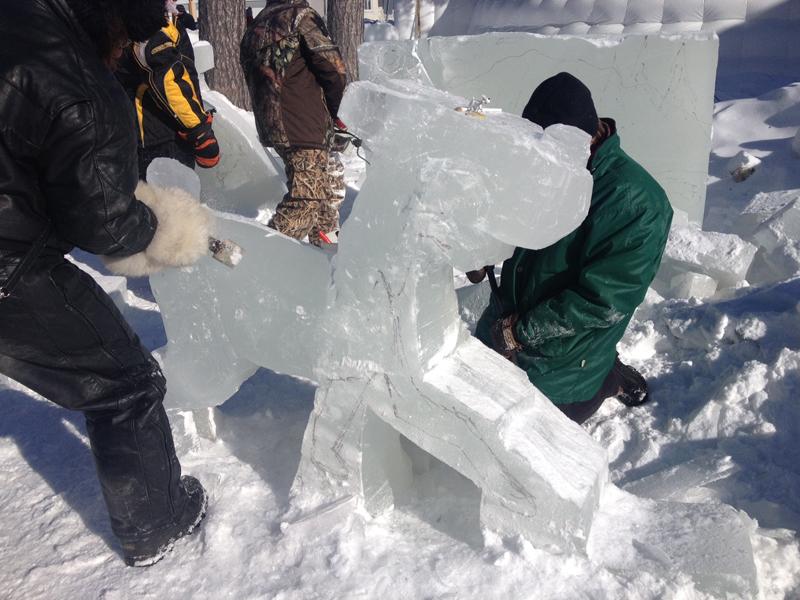 Atelier de sculpture sur glace 2016
