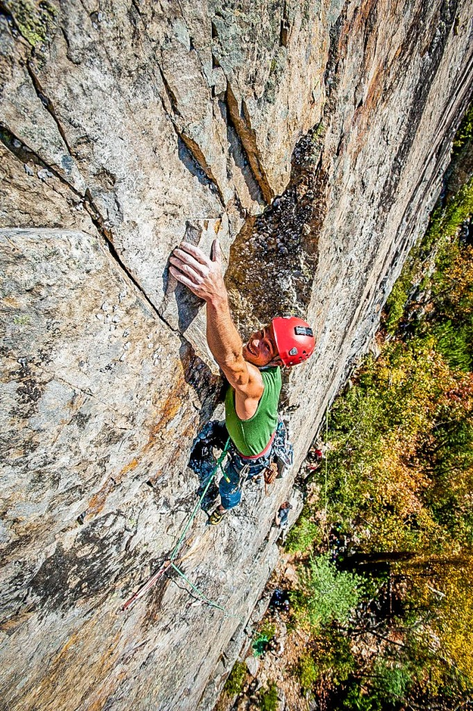 Un grimpeur à la montagne du Tranchant