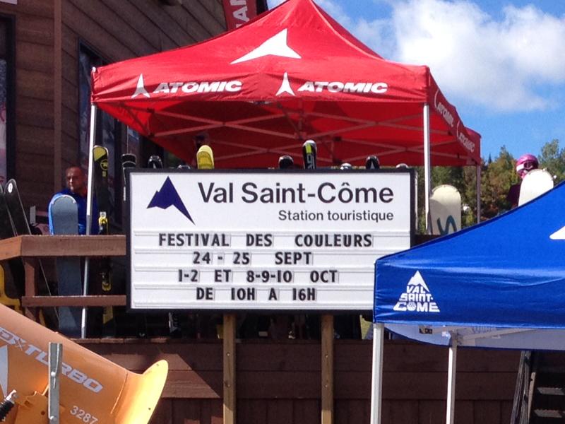 L'entrée à Val Saint-Côme