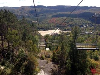 Paysage vu de la remontée mécanique à Val Saint-Côme