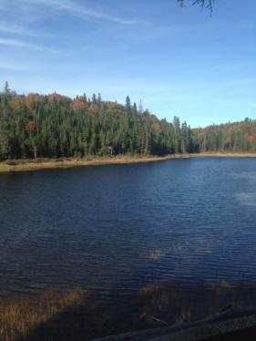La vue du lac