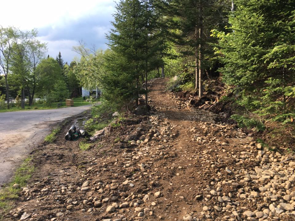 L'entrée du sentier - Vélo de montagne Plein Air Lanaudière
