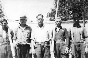 Armand Lepage, Tancrède Gagné, Émery Mireault, Osias Morin & Wilfrid Morin