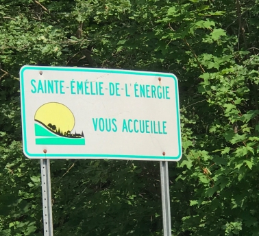 Pancarte Sainte-Émélie-de-l'Énergie